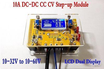 10a Dc-dc Adjustable Cc Cv Step Up Power Supply Module Lcd Dual Display Shell