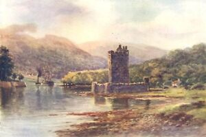 IRELAND-Narrow-Water-Castle-Carlingford-Lough-antique-print-1908