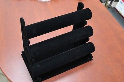 3 Tier Black Velvet Bracelet T-bar Holder Display Stand Showcase F-289