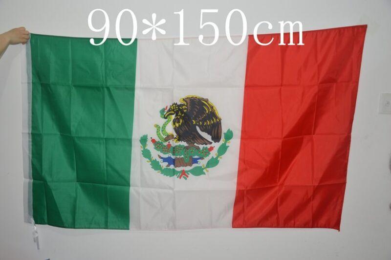 2 pcs of Mexico Mexican Flag 3x5 feet celebration/decoration hanging 90x150cm