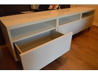 IKEA BESTÅ storage unit with 3 drawers in excellent condition
