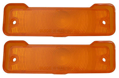 1966 1967 Nova Chevy II Parking Light Lens with Gaskets Pair Amber