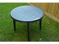 Plastic garden table