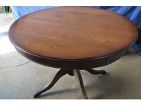 Solid Wood Extending Round Dining or Kitchen Table