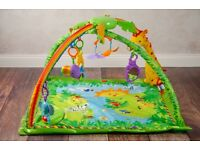 Fisher Price Green Rainforest Activity Gym Play Mat excellent condition