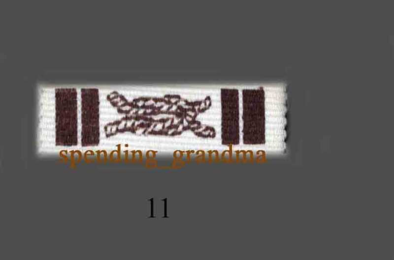 RR02-Royal Rangers Ribbon Bar-Old type-10 Different to choose from