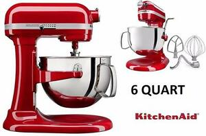 NEW KITCHENAID PRO 6QT BOWL-LIFT STAND MIXER - RED