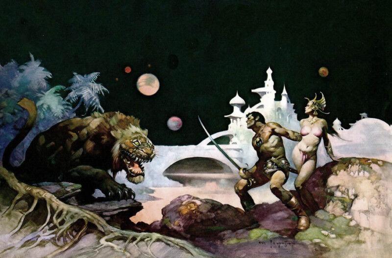 "Authentic Frank Frazetta Print THUVIA, MAID OF MARS  #56  23 X 16"""