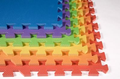 IncStores 24 SQFT Rainbow Play Interlocking Foam Floor Puzzle Tiles Foam Mat
