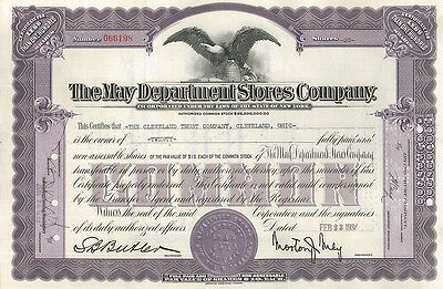 May Department Stores Company > Morton New York stock certificate > now Macy's