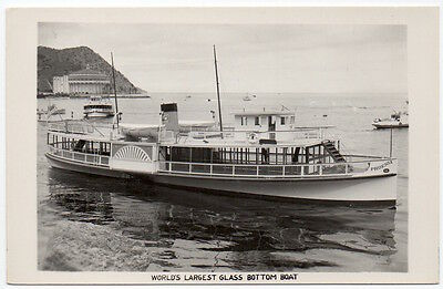 RPPC Phoenix Glass Bottom Boat & Casino in Catalina Island, California~106959