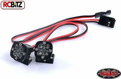 RC4WD 1/10 Baja Designs Squadron Pro LED Lights Z-E0066 BRIGHT 11v Reciever Plug