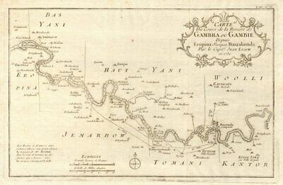 'Rivière de Gambra ou Gambie, depuis Eropina…' Gambia river. BELLIN 1747 map