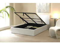 BRAND NEW DOUBLE/SINGLE OTTOMAN STORAGE BED (BLACK,WHITE,BROWN) FREE DELIVERY
