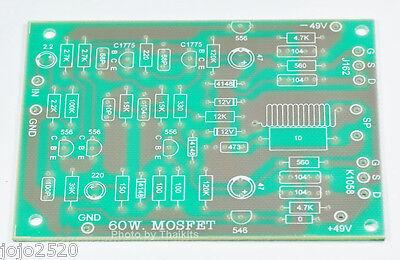 Mono 60w Mosfet Power Amplifier Blank Pcb Diy Circuit Board J162 And K1058