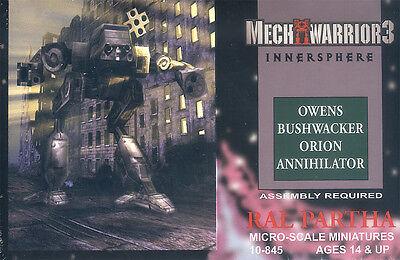 Mechwarrior 3 Innersphere - Box mit Mechs von Ral Partha (Battletech)