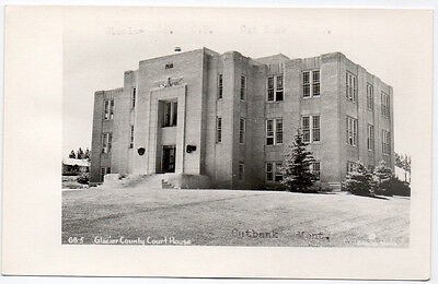 Real Photo Postcard Glacier County Courthouse In Cut Bank  Montana 106605