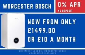 NO DEPOSIT & 0% APR / WORCESTER BOSCH BOILERS Installation/Replacement/Combi, System & Open heating