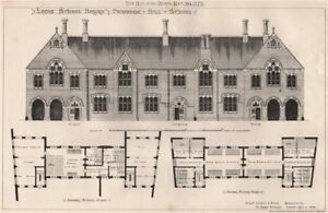 Leeds School Board, Primrose Hill School; Willm. Parkin & Sons. Architects 1873