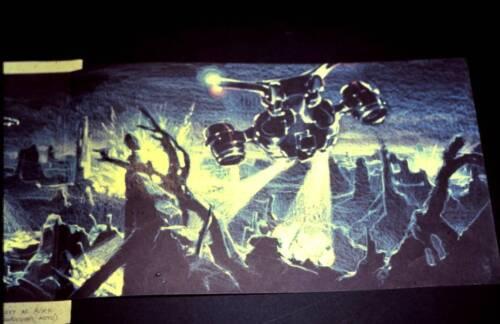 LOT 3: THE TERMINATOR - James Cameron pre-production art - 35mm color slide