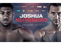 1x Joshua-v-klitschko ticker and coach package