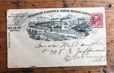 US Stamps Demorest Fashion Advertising Cover 1890s Stamp Envelope 2c Washington