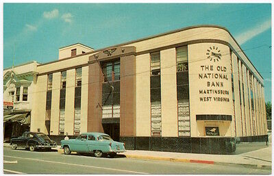 Postcard The Old National Bank In Martinsburg  West Virginia 107030