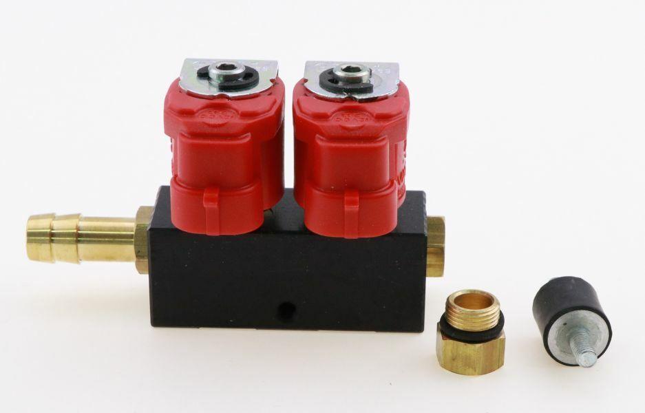 Zylinder 3 Ohm Typ 30 inkl 3+3 Düsen für KME STAG AC Valtek Einspritzrail 6