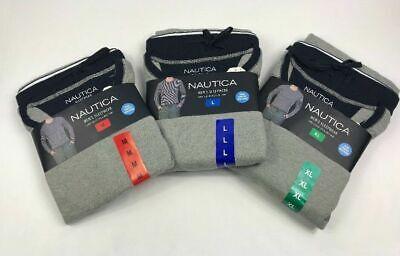 Nautica Mens 2 Piece Pajama PJ Set Long Sleeve Tee Shirt Knit Pant Variety