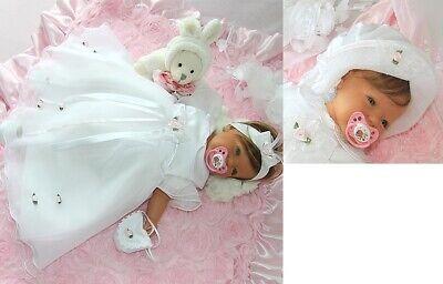 (Nr.0ta77) Taufkleid Festkleid Taufgewand Kleid Taufe Hochzeit Babykleid Taufset