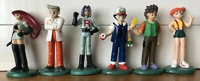 RARE 1998 TOMY Pokemon - JAMES, JESSIE, ASH, MISTY, BROCK & PROFESSOR OAK, CGTSJ