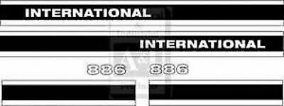 For International 886 With Cab Decal Set