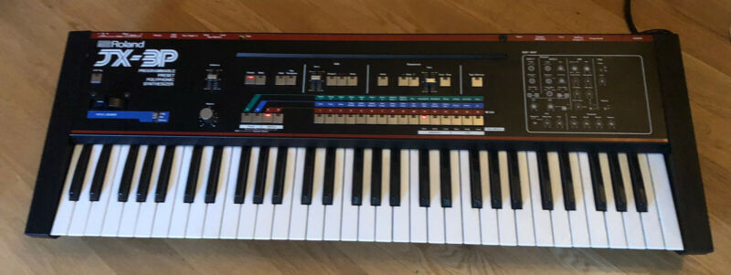 Roland JX-3P 61 Key Keyboard Synthesizer Excellent Fully Tested Sounds Amazing