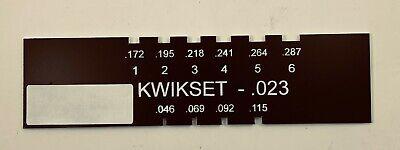 Locksmith Pin Gauge For Kwikset