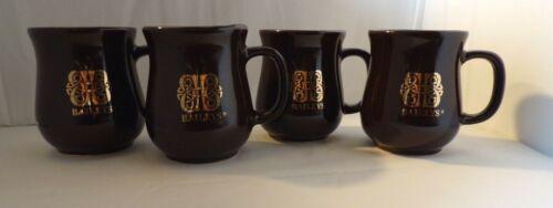 4 Baileys Irish Cream Brown with Gold Celtic Knot Coffee Tea Hot Cocoa Mugs Cups