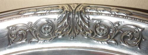 "Beautiful antique Meriden Britannia Sterling Silver large 10"" fruit bowl WD 9"