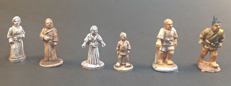 New 15mm 18mm Villagers miniatures for war gaming and dioramas