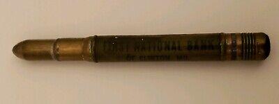 Vintage Rare Bullet Pencil First National Bank Clinton MO Missouri