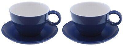Milchkaffeetasse mit Untertasse blau Set Jumbotasse cafe au lait jumbo cup Tee Caf ? Cup