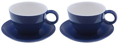Milchkaffeetasse mit Untertasse blau Set Jumbotasse cafe au lait jumbo cup Tee