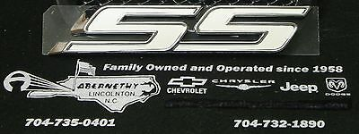 White SS Trunk Emblem for 2010-2015 Chevrolet Camaro OEM Real GM Parts (1992 Camaro Rs Parts)