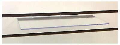 Clear Slatwall Shelves 6 Inch X 12 Inch Set Of 20 Retail Display Home Organizing