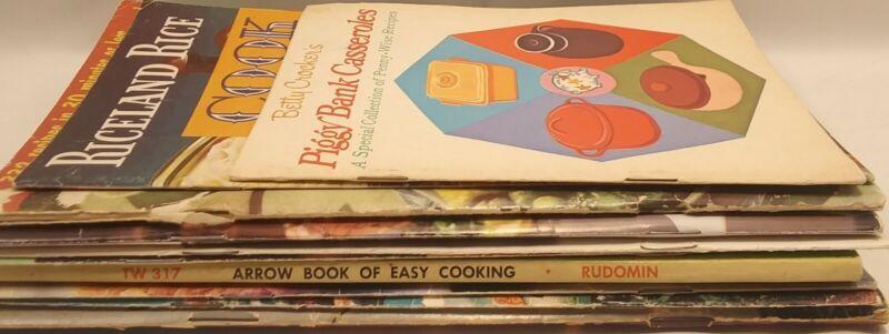 10 Cookbook Recipe Booklets Mostly Vintage Riceland Bisquick Betty Crocker