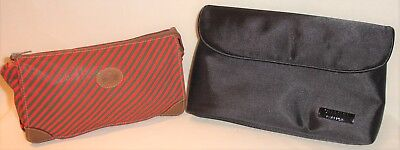 - Authentic! 2 Vintage GUCCI CHANEL PARFUM Clutch Cosmetic Bags Red Black Brown
