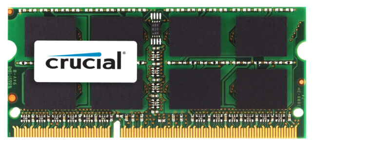 Crucial 8GB 1.6 GHz DDR3L SoDIMM Laptop Memory CT8G3S160BM