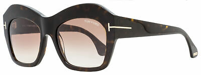Tom Ford Square Sunglasses TF534 Emmanuelle 52F Dark Havana 54mm (Tom Ford Square Sunglasses)