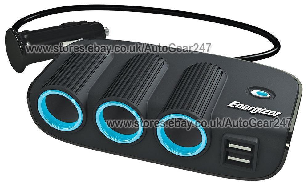 Energizer 50505 12v 24v Twin Usb Car Lighter Triple Multi
