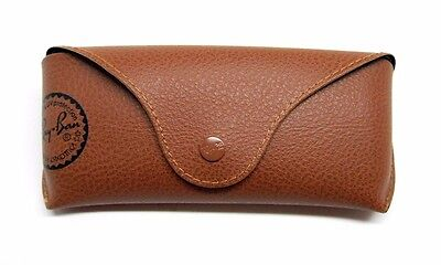 Authentic Ray-Ban Brown Leather Sunglasses Case RG3/3