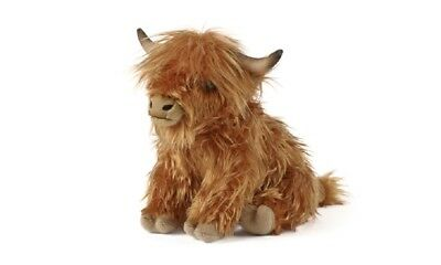 LIVING NATURE LARGE HIGHLAND COW WITH SOUND - AN341 SOFT CUDDLY STUFFED PLUSH