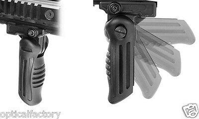 Folding Rifle - Multi Position Folding Foldable Rifle Foregrip Fits Picatinny/Weaver Rail Grip
